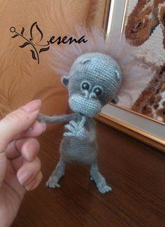 Project by Lesena. Baby monkey crochet pattern by Pertseva for LittleOwlsHut. #LittleOwlsHut, #Amigurumi, #CrohetPattern, #Crochet, #Crocheted, #funny rat, #Pertseva, #DIY, #Craft, #Pattern