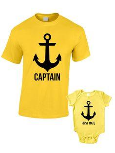 Capitán y primer oficial camisetas o bebé crecer por BlueIvoryLane