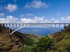 Bridge over Los Tilos Valley, San Andrés y Sauces (La Palma), Spain