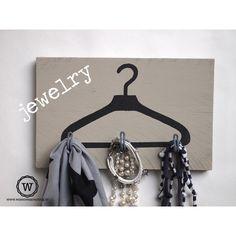 Kapstok kledinghanger stoere #opberger voor sjaals en sieraden
