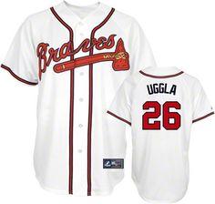 Atlanta Braves Dan Uggla 26 White Authentic Jersey Sale