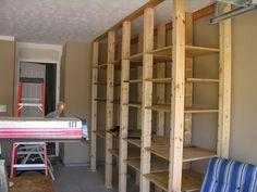 Adjustable Wooden Garage Shelves