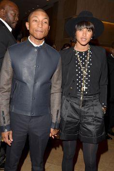Pharrell Williams and wife Helen.