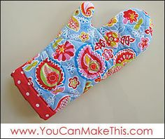 Download Free! Make an Oven Mitt! Sewing Pattern | FREE PATTERN CLUB | YouCanMakeThis.com
