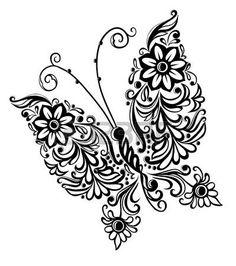 Malerei Schmetterling, swirl abstract element design photo
