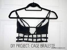 DIY Cage Bralette | elle & ish- How to make a dupe of the Superman Bodice/ Eagle Shadow Bikini top by One Teaspoon