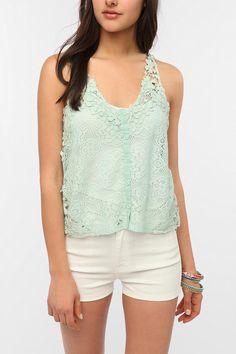 #Kimchi Top, #Lace, #White Shorts