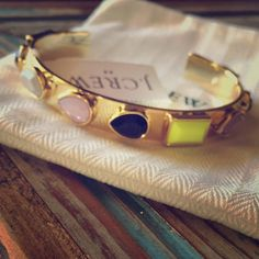 J Crew Multi Stone Gold Cuff Stackable Bracelet New with tags! Gorgeous bracelet! Stack it with others or your watch!! It will look fabulous!! Bundle & save!! Thanks! J. Crew Jewelry Bracelets