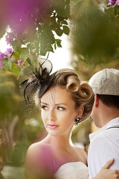 Gorgeous hair, fascinator, and photo <3