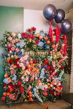 Early Hours Press Workshop held at Grounds & Grapes in London colourful flora. Early Hours Press W Floral Artwork, Floral Wall, Wedding Flowers, Floral Wedding, Backdrops For Parties, Faux Flowers, Event Decor, Spring Flowers, Event Design