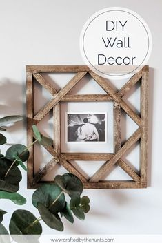 If your living room walls are looking bare and you love Joanna Gaines Farmhouse home decor then you will love making these DIY wood picture frames. Put them up in your hallway or bedroom or make a few and display them above the couch. #farmhouse #diy #walldecor