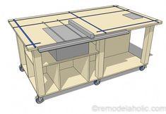 Diy Router Table, Table Saw Workbench, Workbench Plans Diy, Workbench Designs, Router Table Plans, Mobile Workbench, Woodworking Workbench, Rolling Workbench, Paulk Workbench