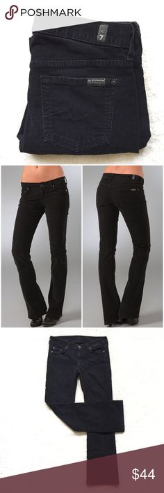 42e26b2c2ac7 7FAM Black Bootcut Cords Stretch bootcut corduroy pants with five-pocket  styling and tonal stitching