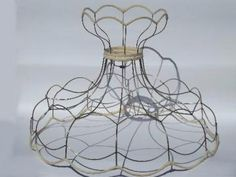 Wire frame lampshade wire center lamp shade wire frame for floor lamps huge old tulip victorian rh pinterest com wire lampshade frames suppliers wire lampshade frames and how to make them greentooth Images