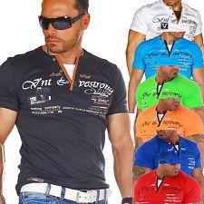 Violento Megatrendy Herren Kurzarm Shirt T Shirt 2483 | eBay