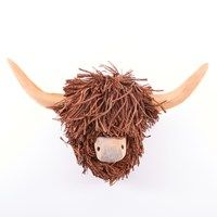 Highland Cow Wall Hanging Wooden Sculpture By Voyage Maison The Kilt Store Cow Cow Head Wood Wall