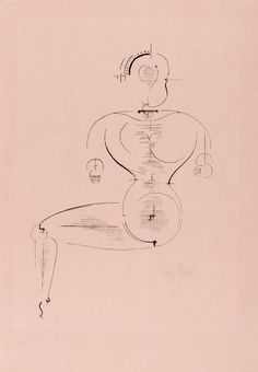 We are intensely aware of man as a machine and the body as a mechanism - drawings of Oskar Schlemmer bauhaus choreographer