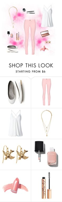 """""""Untitled #870"""" by creaturesinthedark ❤ liked on Polyvore featuring Maison Kitsuné, Dondup, Forever 21, Brooks Brothers, Chanel, Elizabeth Arden, Urban Decay and Charlotte Tilbury"""