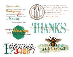 word art for thanksgiving - free printable