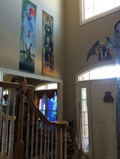 My entry way:  Haunted Mansion Stretching Portrait Parlor - side 1