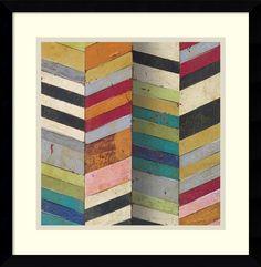 0-008012>Racks and Stacks II Framed Print by Susan Hayes Black
