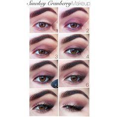 Smokey Cranberry Makeup Tutorial - Elf Burnt Plum Baked Eyeshadow -... ❤ liked on Polyvore featuring beauty products, makeup, eye makeup, eyeshadow and plum eyeshadow