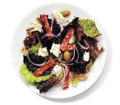 Mozzarella, Salami, and Green Olive Salad