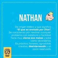 nathan, significado de nombres, nombres de niño, nombres para niño 2018 Boy Names, Baby Boy Shower, Boys, Babies, Children, Illustration, Creative, Meanings Of Names, Sentences