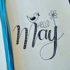 Hello May! handlettering by Hello May! handlettering by May Bullet Journal, Bullet Journal Monthly Spread, Bullet Journal Ideas Pages, Bullet Journals, Filofax, Chalkboard Art, Chalkboard Calendar, Journal Fonts, Painting Quotes
