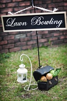 Vintage Wedding Lawn Games