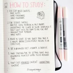 How to study discovered by Wames on We Heart It