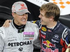 Sebastian Vettel (r) und Michael Schumacher starten für Deutschland beim Race of Champions. (Foto: Marius Becker/dpa)