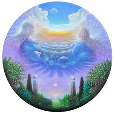 Beyond the Purple Sky by Benny H. Spirited Art, Shape Art, Art Hoe, Environment Concept Art, Visionary Art, Psychedelic Art, Graphic Design Art, Pretty Art, Mystic