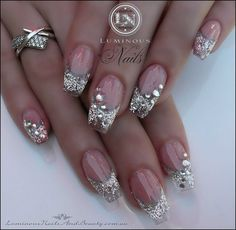 Need a classy nail art design for your next manicure? We have been looking through some of the best classy nail art designs for you. Fabulous Nails, Gorgeous Nails, Pretty Nails, Perfect Nails, Fancy Nails, Bling Nails, Sparkle Nails, Bling Bling, Rhinestone Nails