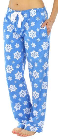 PajamaMania Women's Fleece Pajama Pant | Models, Warm and Satin