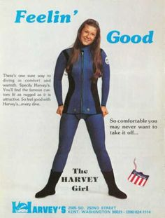 Harveys Girl Woman Scuba Diving Suit (1976) I REALLY need one of these, so I can water ski again hehe, really!