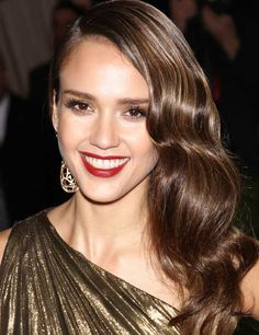 Jessica Alba- cool caramel toned hair, great for olive, yellow skin tone. Keep away from the brassy yellow by toning with a shampoo every week.