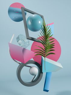 Exploration of different conceptual and design stages. Simple geometric forms, colors and textures are all combined into one to achieve good visual communication. The project is focused on real-world objects in a digital environment like leaves in a digit…