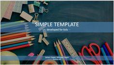 Simple Kids PowerPoint – school supplies – SageFox Themed PowerPoint