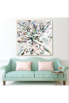 """""""Blush"""" (2017)  By Taelor Fisher  48x48 Acrylic on Canvas  Taelor Fisher Painting Taelorfisherpainting.com"""