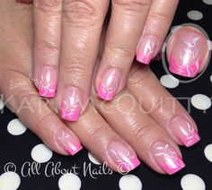 Pretty in Pink sculpted gel nails done by Kari at All About Nails & Training.  www.allaboutnails.org