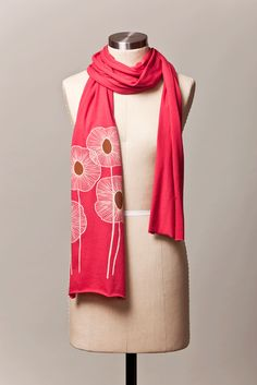 Pineapple Flowers Scarf, Raspberry , $25 >> The colors and print are just so lovely! Would be great for traveling!