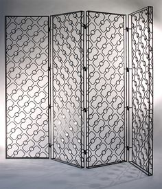 From Cristina Grajales Gallery, Christophe Côme, Oblique Screen Iron and glass, 78 × 94 × 2 in Partition Screen, Room Divider Screen, Room Dividers, Metal Screen, Glass Screen, Wooden Screen, Feng Shui, Soho Loft, Screen Design