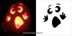 10 Easy Halloween Pumpkin Carving Stencils, Patterns & Printables for Kids 2016 – Real Time – Diet, Exercise, Fitness, Finance You for Healthy articles ideas Scary Pumpkin Carving Patterns, Cute Pumpkin Carving, Disney Pumpkin Carving, Halloween Pumpkin Carving Stencils, Pumkin Carvings Easy, Simple Pumpkin Carving Ideas, Easy Pumpkin Designs, Pumpkin Painting, Pumpkin Ideas