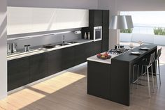 Beautifully minimalistic kitchen. Vismap Cucine Moderno > Idea Plus > Idea Plus Yellowpine 1