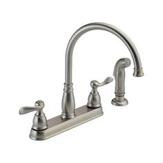 21996LF-SS Windemere Two Handle Kitchen Faucet : Kitchen Products : Delta Faucet