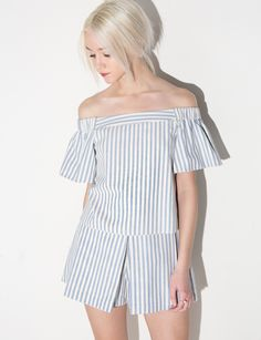 Cute woven off the shoulder top #fashion #pixiemarket