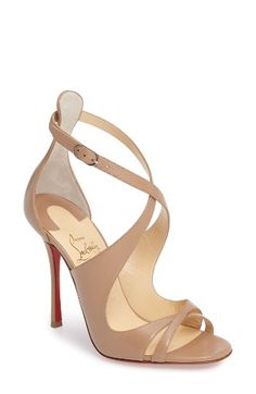 Free shipping and returns on Christian Louboutin Maelfissima Sandal (Women) at Nordstrom.com. Alluring leather straps that curve this way and that define this intriguing peep-toe sandal, set on a towering stiletto heel. Christian Louboutin's iconic red sole—born from a brush with red nail lacquer—pops with each delightfully clicking step.
