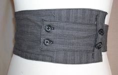 DIY obi belt. Make it out of suit pants.