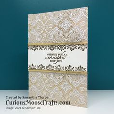 Simply Elegant Gold Cards – Curious Moose Crafts Moose Crafts, Wedding Aniversary, Wedding Cards Handmade, Sending Hugs, Stampin Up Catalog, Card Making Techniques, Stamping Up Cards, Anniversary Cards, Birthday Cards